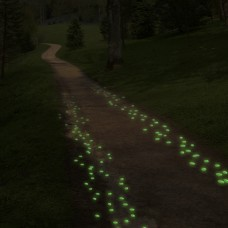 500 Glow in the Dark Pebbles for Walkways and Decor   564716205