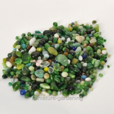 Accent Decor, Inc. Forest Glass Pebbles for Miniature Garden, Fairy Garden