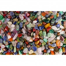 "Fantasia Crystal Vault: 3 Pounds of Tumbled Stones from Brazil - Polished Natural Rocks - Assorted Mix - XX Small Size - 0.25"" to 0.75"" (Average 0.50"")"