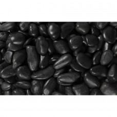 "Margo 20 lb Black Grade A Polished Pebbles, .5"" to 1.5""   555017532"