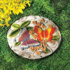 Stepping Stone For Yard, Concrete Butterfly Outdoor Garden Patio Steps Stone