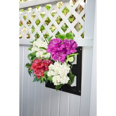 Bloomers Wall Flowers Vertical Gardening System – Create Gardens on Walls – Holds up to 4 Potted Plants – Black   555990066