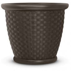 "Suncast 22"" Sonora Resin Planter, Java, Contains 2 Planters   553672087"