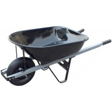 United General WH89693 6 Cubic Feet 18 Gauge Steel Tray Contractor Wheelbarrow   550504390