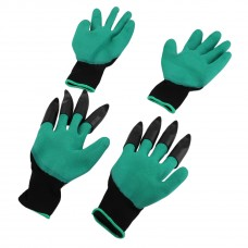 2 Pairs Plastic Claws Gardening Gloves for Digging Planting Gardening Gloves