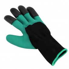 Practical 2 Pairs ABS Plastic Claws Gardening Gloves for Digging Planting Gardening Gloves Built In Claws Easy To Use