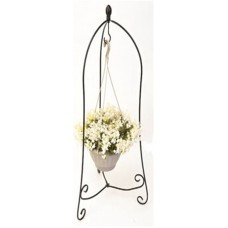 Panacea Products Corp-Import 86630 Plant Stand, Scroll Hanging Basket, Folding, 40 x 24 x 24-In.