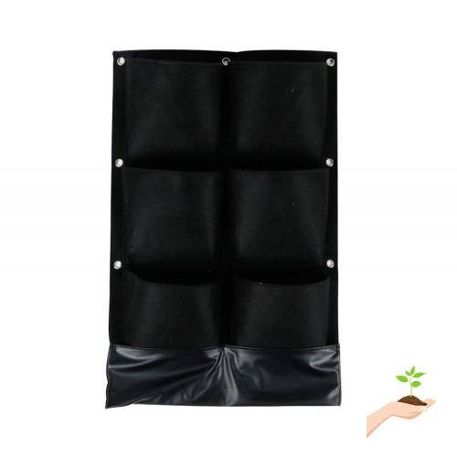 Topeakmart Topeakmart 6 Pocket Vertical Garden Planter Grow Bags