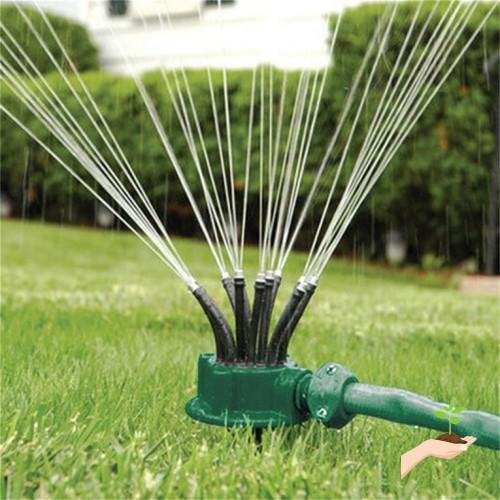 Green 360 Degree Rotating Sprinkler Noodle Head Water