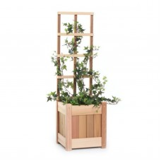 All Things Cedar Square Wood Planter Box - Western Red Cedar