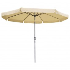 10 ft Outdoor Furniture Patio Table Umbrella Tan