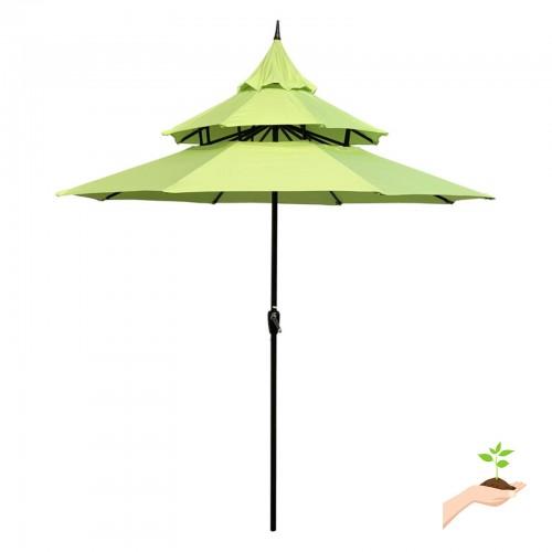 Abble 9 Ft Steel Pagoda Patio Umbrella