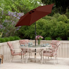 Budge 7ft Aluminum Patio Umbrella with Crank Lift and Tilt Function   555797686