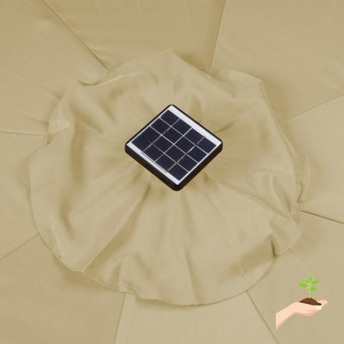 Rectangular Led Umbrella: Rectangular Solar Powered LED Lighted Patio Umbrella, 10