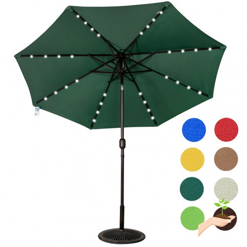 Led Umbrella Features: Sundale Outdoor Solar Powered 32 LED Lighted Outdoor Patio