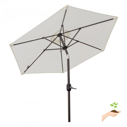 Sunrise Umbrella 8 Ft. Parasol Aluminum Garden Market Patio Umbrella With  Crank And Push Tilt