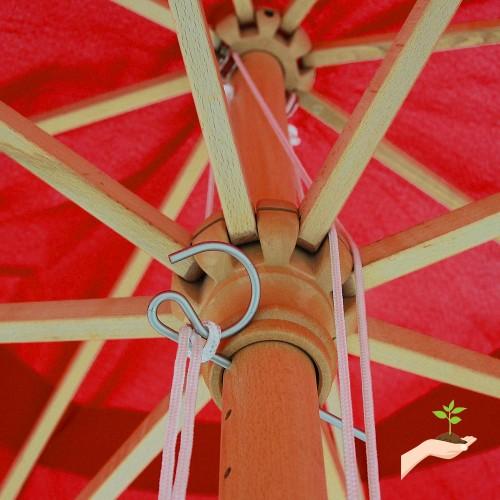 Yescom 13ft Xl Outdoor Patio Umbrella W German Beech Wood Pole