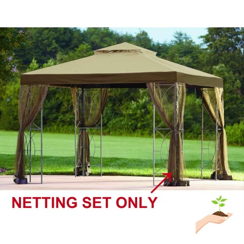 Sunjoy Replacement Mosquito Netting For L Gz813pst 10x10 Callaway Gazebo
