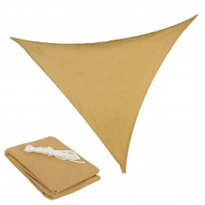 Sunnydaze Beige Triangle Sun Shade Sail for Patio, Lawn and Garden, 12-Foot   567146912