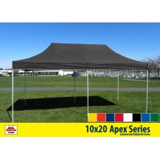 10x20 Apex Series 3 Commercial Pop Up Canopy with Emerald Green 600D top and Aluminum Frame