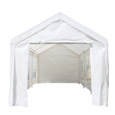 ALEKO Outdoor Canopy Tent with Sidewalls and Windows - 10 X 20 FT - White   565689955