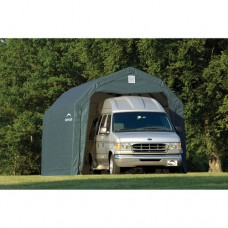 Shelterlogic 12' x 20' x 9' Barn Style Shelter, Green   554798274