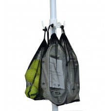 6 ft Rio Beach Umbrella with Carry Bag, Accessory Hanging Hook, UPF 100+ Standard and Integrated Anchor Option