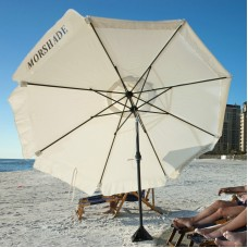 Morshade 9-ft. Heavy-Duty Wind-Resistant Telescoping Beach Umbrella with Base