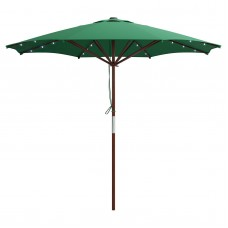 CorLiving Patio Umbrella with Solar Power LED Lights   554623065