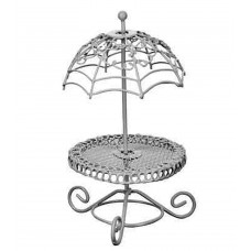 Garden Fantasy Miniature Wire Table With Attached Umbrella - By Ganz