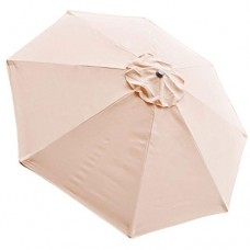 Tan 8ft Outdoor Patio Umbrella Replacement Top Canopy