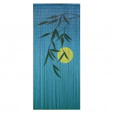 Bamboo54 Blue Burning Bright Moonlight Bamboo Outdoor Curtain