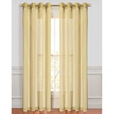 Highland Dunes Hemmer Solid Sheer Outdoor Grommet Curtain Panels (Set of 4)