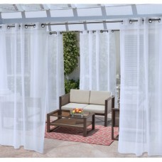 Ivy Bronx Fairbanks No Se'em Mesh Solid Sheer Outdoor Grommet Single Curtain Panel