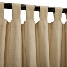 Sunbrella Illusion Honey Outdoor Curtain with Tabs 50 in. x 120 in.