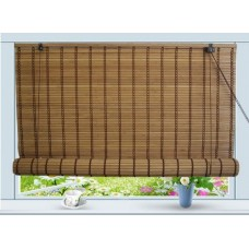 "Bamboo Roll Up Window Blind Sun Shade W30"" x H72"""