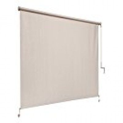 Coolaroo Exterior Corded Roller Shade 4ft by 8ft Pebble