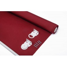 Shatex Waterproof Exterior Manual Roller Shade 8x6ft Wine Red