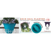 "Modica Rail Planter 24"" - Union Red"