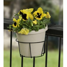 "Panacea 89049 Adjustable Steel Flower Pot Holder, 2"" x 4"", Black"