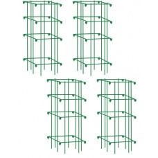 Heavy Duty Tomato Cages, Heavy Gauge Powder-coated Steel, Set of 4