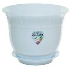 Planter LILIA 8.6 Inch White, With Saucer   564101666