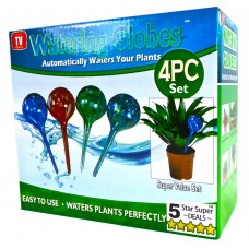 Aqua Plant Watering Globes - Automatic Self Watering Plant Glass Ball Bulbs - Indoor Or Outdoor Use - 4pc Large & 4pc Small